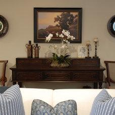 Traditional Family Room by Joni Koenig Interiors