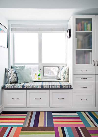 Transitional Family Room by Four Blocks South