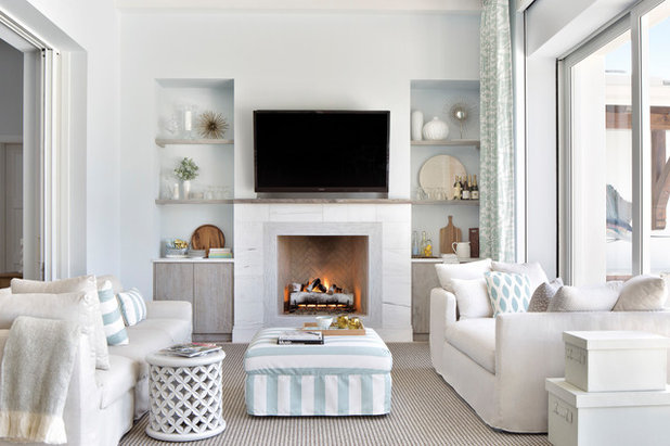 Coastal Family Room by Krista + Home