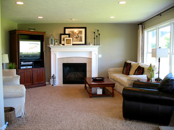Traditional Family Room by Just a Girl