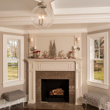 Traditional Family Room by JWH Design and Cabinetry LLC