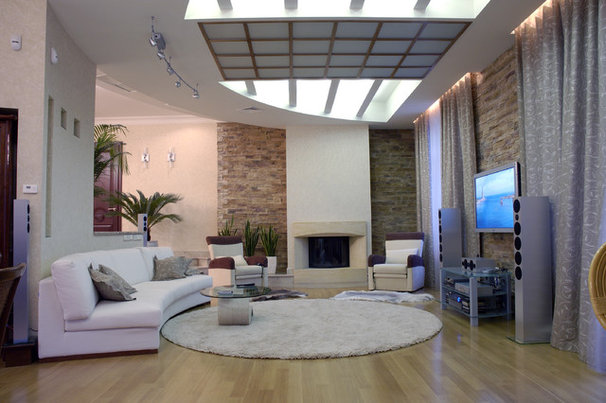 Contemporary Family Room by Zimina Inna