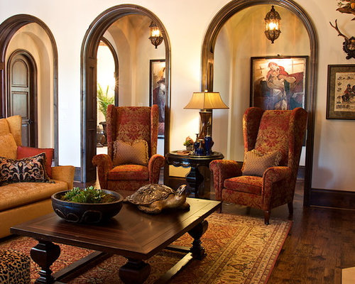 High back chairs ideas pictures remodel and decor for Colonial living room decorating ideas