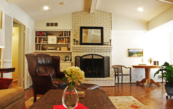Traditional Family Room by Kara Weik