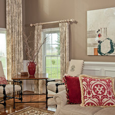 eclectic family room by Karen Renee Interior Design