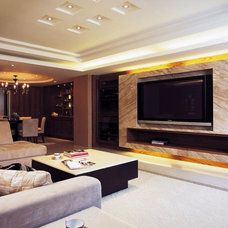 Contemporary Family Room katherine_tw