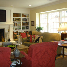 Family Room by Kathleen Burke Design
