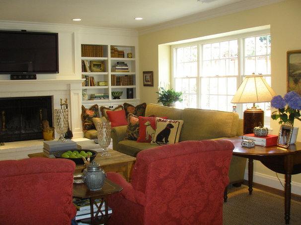 Traditional Family Room by Kathleen Burke Design