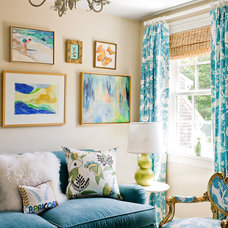 transitional family room by Michael J. Lee Photography