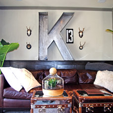 industrial family room by Emily Winters