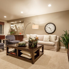 Traditional Family Room by Housing & Building Association of Colo. Springs