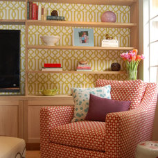 Eclectic Family Room by Kelly Scanlon Interior Design