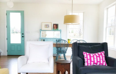 Houzz Tour: A Modern Farmhouse With Pops of Bold Color