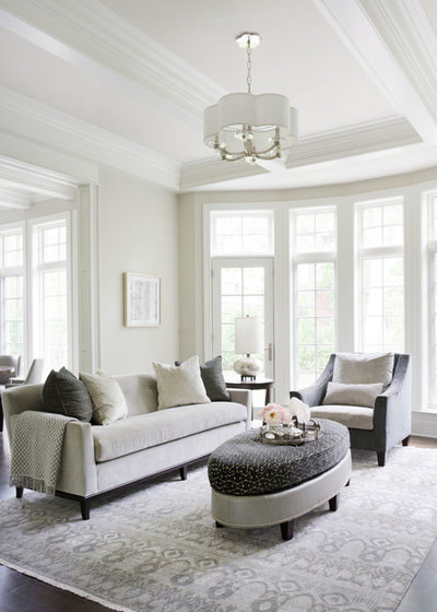 Transitional Family Room by Dual Concept Design