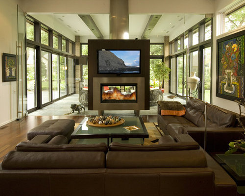 Modern Detroit Family Room Design Ideas Remodels Photos