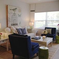 Beach Style Family Room by Interiors by Maite Granda