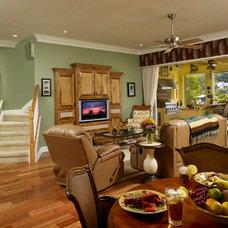 Contemporary Family Room by Jonathan McGrath Construction, LLC