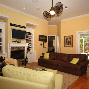 Key West Style New Home Family Room