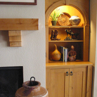 Keystone Arch, Flutes, and Bun Feet on Fireplace Built-ins