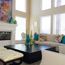 Contemporary Family Room by Kevin Twitty- IBB Designer