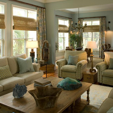 Traditional Family Room by Haute Design