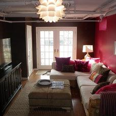 Contemporary Family Room by Stephanie Rado Taormina