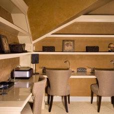 Contemporary Family Room by DW Design & Decor LLC