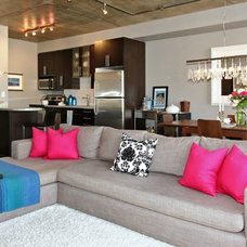Industrial Living Room by High Street Design