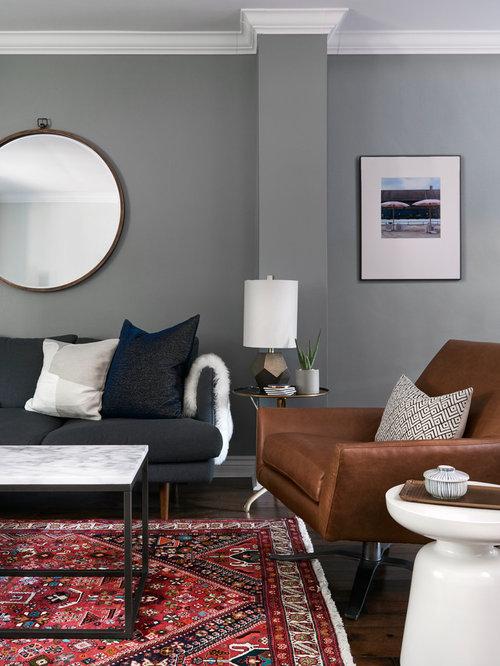 Ideas para salas de estar fotos de salas de estar retro for Sala de estar oscura