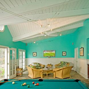 Ispirazione per un soggiorno chic con sala giochi