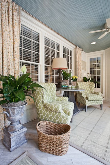 Eclectic Family Room by Eric Ross Interiors, LLC
