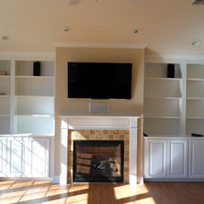 Traditional Family Room by SRD Remodeling Co. LLC