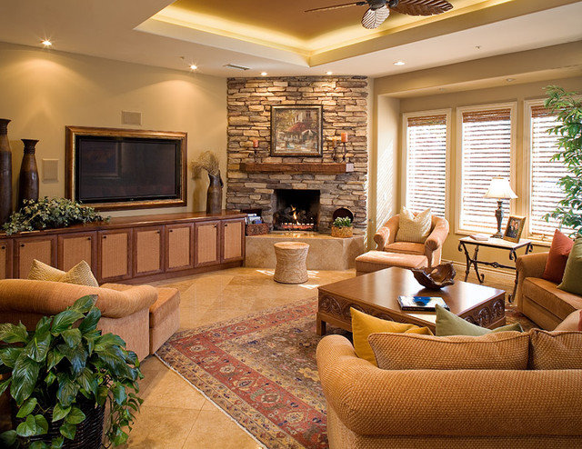 Contemporary Family Room by James Patrick Walters