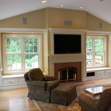 Traditional Family Room by Stauffer Design LLC