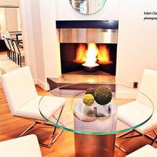 Modern Family Room by Eden Clark of VEDA Design Group