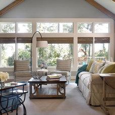 Transitional Family Room by Kandrac & Kole Interior Designs, Inc.