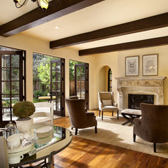 traditional family room by Bernard Andre Photography