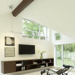 contemporary family room by Studio Durham Architects