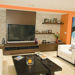 contemporary family room by Kenneth Fromme