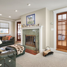 Contemporary Family Room by Feinmann, Inc.