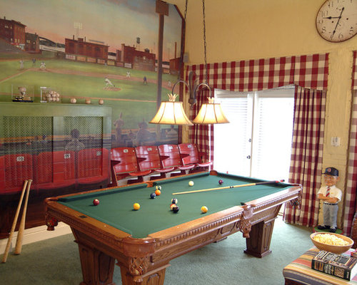 Inspiration For A Timeless Carpeted Game Room Remodel In Other