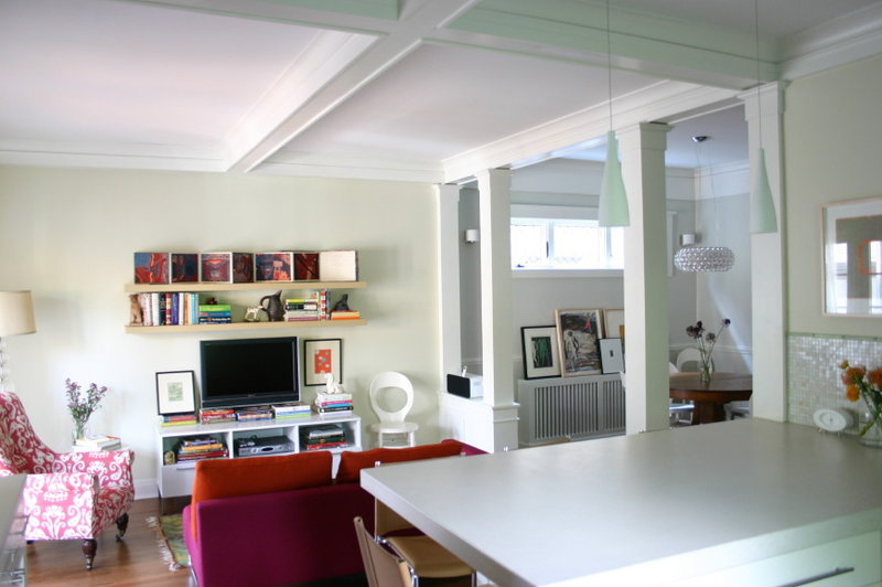 eclectic family room by Rebekah Zaveloff | KitchenLab