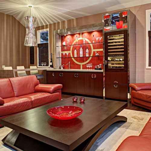 Red Leather Couch Houzz