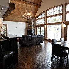 Traditional Family Room by Kawartha Lakes Construction