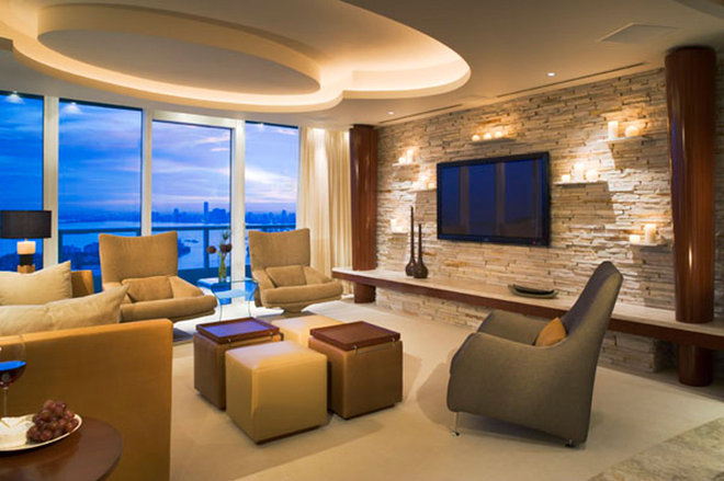 Contemporary Family Room by Causa Design Group