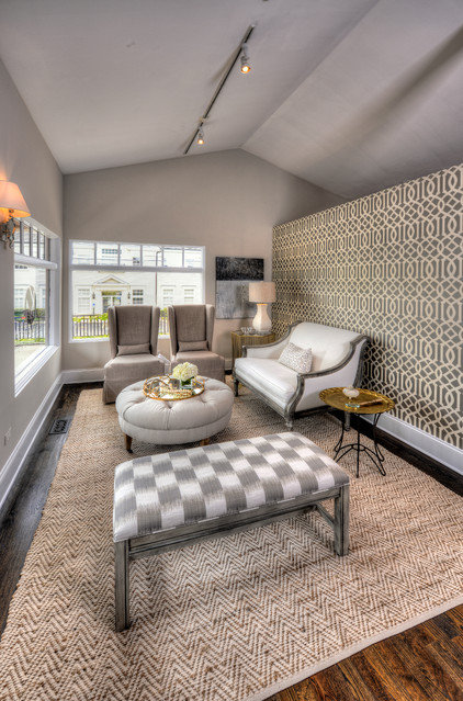 Modern Family Room by Kate Marker Interiors