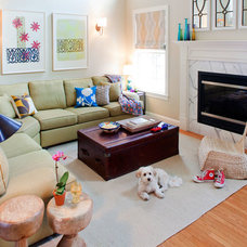 Eclectic Family Room by Kate Maloney Interior Design