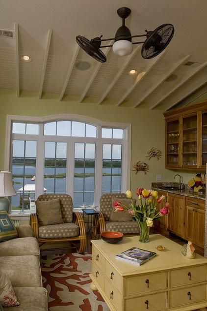 Beach Style Family Room by Blue Sky Building Company