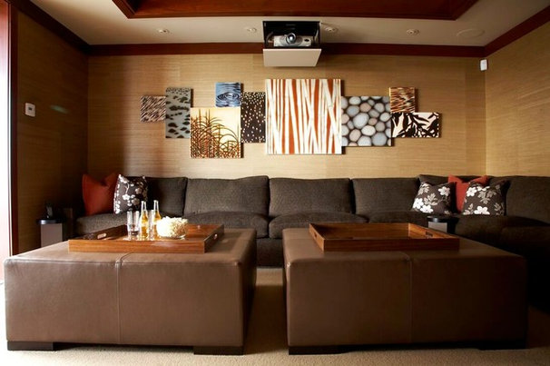 Asian Family Room by Knudson Interiors