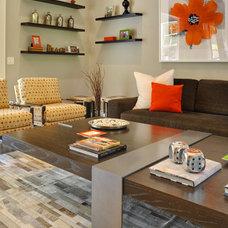 Contemporary Family Room by Karen Bowen Interiors